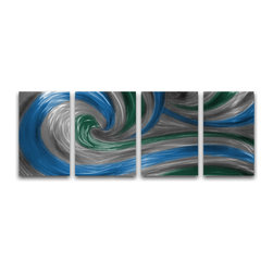 Miles Shay - Metal Art Wall Art Decor Abstract Contemporary Modern Sculpture - Spring Crest - This Abstract Metal Wall Art & Sculpture captures the interplay of the highlights and shadows and creates a new three dimensional sense of movement as your view it from different angles.