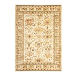 """Safavieh - Heirloom Brown/Green Area Rug HLM1741-1152 - 2'3"""" x 8' - Safavieh's Heirloom collection offers the beauty and painstaking detail of traditional Persian and European styles with the ease of polypropylene. With a symphony of florals, vines and latticework detailing, these beautiful rugs bring warmth and life to any room."""