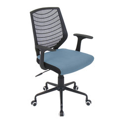 "Lumisource - Network Office Chair, Black/Smoked Blue - 22"" L x 25"" W x 36.6 - 39.5"" H"