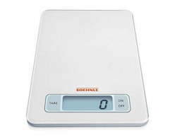Soehnle - Soehnle Page Digital Kitchen Scale - White - Soehnle Page Digital Scale - White - 66100    Super-flat, space-saving kitchen scale made of glass. The Sensor Touch operating panel ensures easy and convenient operation - slight touch of the keys is sufficient. Low construction height – only 17mm. Smooth surface is very easy to clean.