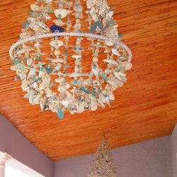 Recycled Sea Glass lighting -
