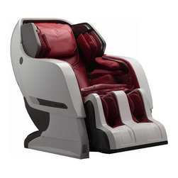 "Infinity IYASHI White / Berry Red Reclining Full Body Zero Gravity Massage Chair - Introducing the IYASHI Massage Chair by Infinity.  The hottest  selling massage chair in all of Asia is now launching in  America....IYASHI has arrived!         Infinity continues to be the innovative leader bringing to  market life changing massage therapies.  Incorporating many of the Zen  Master and Ti Chi massage techniques, IYASHI is truly an industry  revolutionizing massage chair.  This cutting edge design utilizes the  longest massage stroke ever brought to market!  This groundbreaking  massage mechanism operates from your neck all the way down to track  under and include your gluteus muscles!  IYASHI will invigorate,  relieve, and revive 35% more of your being than any massage chair in  existence today.  Rich with many of the distinctive Infinity  technologies, IYASHI is The World of Massage.         The ly developed space saving track system is an amazing  break through that drastically minimizes space requirements.  This  exclusive IYASHI advancement affords you the ultimate dream massage even  in the most restrictive of space settings where traditional chairs are  too cumbersome and would fail.         Complete with Apple and Android apps, your IYASHI is easily  operated with your Bluetooth enabled mobile device.  Incorporate your  favorite playlists and create the massage of your dreams in The World of Massage.         Massage Techniques Include:          - Kneading          - Tapping          - Synchronic (Connect via Bluetooth and have the rollers massage you to the beat of your music!) !          - Knocking          - Shiatsu          - Combination Product Features Include:          - 3 year peace of mind warranty - parts and labor warranty- Two Zero Gravity Positions  !          - Spinal Correction !          - Accu-Roll Shoulder Massage  !          - Intersound Technology !          - Bluetooth Technology          - Apple and Andoid App          - Lumbar Heat          - Four-Wheel Massage Mechanism          - Longest stroke length of 49""          - Waist Twist          - Rolling Massagers on Soles of Feet          - Manual Adjusting Massage Strengths         Airbag Pressure Massage Technology for:- Arms          - Pillow          - Seat          - Leg / Feet          - Shoulders3349dThe All Sophisticated Design and Look -  The  luxurious all full body look of the Infinity Iyashi along with  the deeper massage and longest stroke length places this chair at the  top of the hierarchy.  You will be thrilled with the many advances  of this latest Infinity chair from Infinite Therapeutics.         Experience the Benefits of Zero Gravity -          The Iyashi massage chair eliminates pain within vertebral  discs by maintaining and encouraging the natural ""S"" shape of the spine  all the way from the neck through the lumbar region.         The steady rhythmic massage of the Iyashi soothes  fatigued muscles, releases tension and steadies a normal heart rate by  assisting in the transmission of oxygen-rich blood throughout your  entire body.         The zero gravity experience of the Iyashi promotes overall  well-being, reducing your heart rate, soothing stress and calming both  the body and mind for a one of a kind relaxation experience.          The Longest Stroke Length Manufactured in the World Today -          This cutting edge design utilizes the longest massage stroke  ever brought to market!  The groundbreaking massage mechanism operates  from your neck all the way down to track under and include your gluteus  muscles!  IYASHI will invigorate and revive 35% more of your being than  any massage chair in existence today. You will experience a 47 inch  stroke length were you cannot experience in any other chair in the  world.          Deep Pressure Massage Along the Spine -          All along your spinal column there are vast bundles of nerves  that retain tension and result in stiffness and fatigue. The Iyashi  offers pressurized massage strokes from the cervical spine all the way  through the lumbar region in long, continuous strokes. Simply sink deep  into your massage chair, and allow the high-tech rollers to knead out  tension, improve overall blood circulation and even promote healthier  digestion. Give yourself just 20 minutes a day in the Infinity Iyashi  and you will experience a higher level of total well-being.          Conforming to Your Body's Natural Shape -          Your body has a natural ""S"" shaped curve that is created by  your spine. As such, your spine often bears the brunt of stress, tension  and the basic support of your body. However, this tension often builds,  leading to various ailments including pain, numbness and, in some  cases, can even affect your heart rate. The Iyashi features a unique  slide rail for its massage rollers that conforms to that natural curve  of your spine so it can soothe stress, alleviate pain and tension and  provide a deep sense of long-lasting comfort and relaxation.          Lower Waist Airbag -          The deep, kneading motion of the 3-layer massage airbags  mimics the motion of human hands to promote circulation, leaving you  feeling refreshed, centered and alive.          Lumbar and Buttock Airbag -          The twisting motion of two powerful airbags acts like the  hands of a licensed masseuse to deliver an invigorating massage that  rolls out tension and revives the buttocks and thighs.          Sole & Foot Massage -          Because you normally hold tension, stress and fatigue in your  feet, our powerful massagers will revive your entire being. In each  foot unit of the massage chair, there are 20 airbags and 4 rolling sole  massagers. Each airbag is designed specifically to squeeze, knead, roll  and swing massage the sole, arch, heel and ankle.          Leg & Foot Airbag Massage -          Each leg of the massage chair features 20 individual airbags  to provide a deep tissue massage that boosts blood circulation and gives  your feet a healthier, revitalized feel.         Tension, stress and fatigue compounds in your feet, so the  kneading, rolling and swinging massage motion deeply refreshes your  soles, arches, heels and ankles.          Shoulder Airbags -          Triple Airbags below both shoulders offer powerfully  refreshing, kneading, rolling and twisting massage motions. Much like a  professional massage, they provide the highest level of comfort and  relaxation to areas with the most tension.          Arm and Wrist Airbags -          Lightweight but powerful, the airbags along the wrists offer a  soothing wave-like motion to smooth away tension, promote circulation  and leave your arms feeling refreshed.          Warm and Relax Your Muscle Stress -          Because the majority of your stress is trapped in the muscles  of your back, the powerful heating function of the Iyashi is designed  to soothe and prepare your muscles for the massage. The heating modules  gently warm up to gradually reduce pain and tightness, as well as  restore healthy circulation and the rigidity of your muscles.          Low Impact & Environmentally Sound -          The Iyashi is designed to deliver not only powerful results,  but also the lowest environmental impact possible. Your massage chair  uses a very low amount of energy (about 240W while in operation) and a  steady and constant voltage. Because comfort should never come with  strings attached, the chair produces very little noise while providing  you with the comfort of a professional massage in your own home.          Soothing Sound - ! -          Soothe and satiate your senses as you enjoy a deep, relaxing  massage. The Iyashi allows you to customize your massage by surrounding  yourself with sound. Connect to your chair using Bluetooth technology  with your mp3 player then sit back, relax and enjoy. This combination of  soothing massage therapy and audio ambiance provides a truly  one-of-a-kind therapeutic experience.          Our Chair Stands the Test of Time -          When you invest in the massage chair of your dreams, we know  you're investing in the comfort and longevity that it will provide. The  Iyashi provides unparalleled wear resistance and is highly protected  against corrosion - we've even tested it in a potent dose of sodium  hydroxide for 72 hours. The material of your chair is easy to clean,  protected against extreme temperatures and features a very breathable  material for simple care and maintenance.        InfinityWarranty"