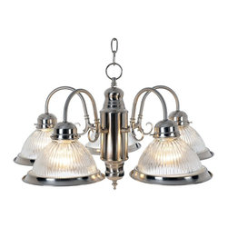 Premier - Five Light Traditional Chandelier - Brushed Nickel - Premier 558724 24in. D by 14in. H Traditional Chandelier, Brushed Nickel Finish.