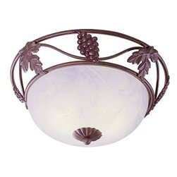 Volume Lighting - Volume Lighting V7419 Napa 3 Light Flush Mount Ceiling Fixture - Three Light Flush Mount Ceiling Fixture from the Napa CollectionGive your home a new look with this splendid 3 light flush mount fixture featuring lovely alabaster glass.Features: