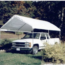 King Canopy - King Canopy 13 x 10 ft. Universal Canopy Carport Multicolor - C81013PC - Shop for Sheds and Storage from Hayneedle.com! This full-sized storage unit is a cousin to the King Canopy Carport. Built of the same durable 20-gauge steel and long-lasting white polyethylene cover our taller heavy-duty carport comes with 6 sturdy legs to support the extra height. The over-sized sides give plenty of clearance to store extra items.Pipes are powder coated steel with an outside diameter of 1 3/8 inches. Fittings are 17-gauge powder coated steel with an outside diameter of 1 1/2 inches.