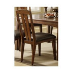 Riverside Furniture - Craftsman Home Side Chair in Americana Oak Finish - Set of 2 - Set of 2