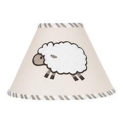 Sweet Jojo Designs - Little Lamb Lamp Shade by Sweet Jojo Designs - The Little Lamb Lamp Shade by Sweet Jojo Designs, along with the bedding accessories.