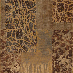 """Karastan - Karastan Carmel 74700-13125 (Santa Lucia Chestnut) 2'11"""" x 4'8"""" Rug - Floral motifs, sophisticated graphic patterns and modern damasks take center stage in the Carmel collection. Styled for today's relaxed living these fashion inspired patterns feature color palettes that are decorator friendly and offer the consumer an easy decorating choice."""