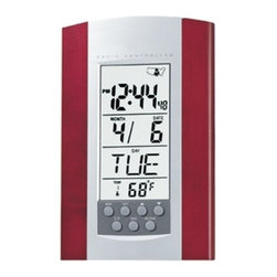 Kito - 7 7/8 Inch Radio Controlled Clock with Date/Temperature Display - This gorgeous 7 7/8 Inch Radio Controlled Clock with Date/Temperature Display has the finest details and highest quality you will find anywhere! 7 7/8 Inch Radio Controlled Clock with Date/Temperature Display is truly remarkable.