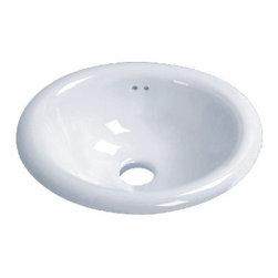 "TCS Home Supplies - Porcelain Ceramic Vanity Drop In Bathroom Vessel Sink - 17-1/2 x 15 x 7-1/2 Inch - Drop In Bathroom Vessel Sink. Porcelain Ceramic. Dimensions 17-1/2"" x 15"" x 7-1/2""."