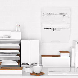 Kvissle Wall Magazine Rack, White - These Kvissle desk accessories are new in the Ikea collection. The soft tones and wooden accessories will give your workspace a tranquil feel, or you can add splashes of color to spice things up a little. Either way they're perfect.