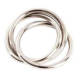 Saro - Silver Napkin Ring SET/4 - Silver Napkin Ring SET/4