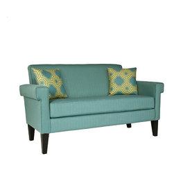 angelo:HOME Ennis Shoreline Aqua Blue Sofa - Surround yourself in your favorite color — get an aqua couch!