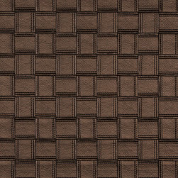 Bronze Basket Woven Upholstery Faux Leather By The Yard - This faux leather material is great for all indoor upholstery applications including residential and commercial. This pattern is uniquely made to combine luxury with durability. Our faux leathers are stain resistant, and easy to clean with mild soap and water.