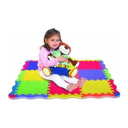 Edushape Edu Tiles - Play Mat - 25 Piece - The Edushape Edu Tiles - Play Mat - 25 Piece is a set of interlocking brightly colored foam floor tiles. These fun tiles are great for designing a specific play area or just pure creation.About EdushapeEstablished in 1983, Edushape is a family-owned and -operated company with a focus on manufacturing quality children's toys and products. Edushape is committed to producing soft, safe, quality children's toys that promote successful developmental learning through play.