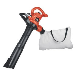 BLACK & DECKER LAWN - 230 MPH BLOWER/BLOWER VAC - Three in one blower, vacuum and mulcher keeps the yard neat and tidy. The 230 mph blower blows through leaves and debris with ease. The anti-clog Vortex Impeller prevents clogging when mulching, while grinding up to 10 bags of mulch down to one. Two speed   selections for flower beds and powerful enough for matted leaves. Tool-free switching between vacuum and blower in seconds. Weighs 8.1lbs. Built-in cord retainer. Large 1.5 bushel bag with adjustable shoulder strap. Ergonomic design.            This item cannot be shipped to APO/FPO addresses.  Please accept our apologies