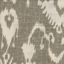 Bristow Smoke Ikat Drapery Fabric - I have seen this fabric used for pillows, and they were stunning. I would use this Ikat fabric for throw pillows any day.