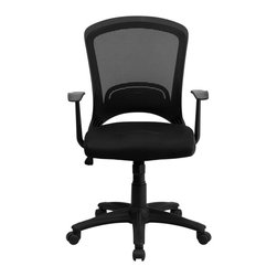 Flash Furniture - Flash Furniture Office Chairs Mesh Executive Swivels X-GG-7000-LH - This decorative back mesh office chair provides you the basic function needed to complete your everyday tasks at work or home. Chair features a breathable mesh back, tilt control and pneumatic seat lift. [HL-0007-GG]