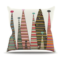 """Kess InHouse - Bri Buckley """"Feather Peaks"""" Rainbow Triangles Throw Pillow (26"""" x 26"""") - Rest among the art you love. Transform your hang out room into a hip gallery, that's also comfortable. With this pillow you can create an environment that reflects your unique style. It's amazing what a throw pillow can do to complete a room. (Kess InHouse is not responsible for pillow fighting that may occur as the result of creative stimulation)."""