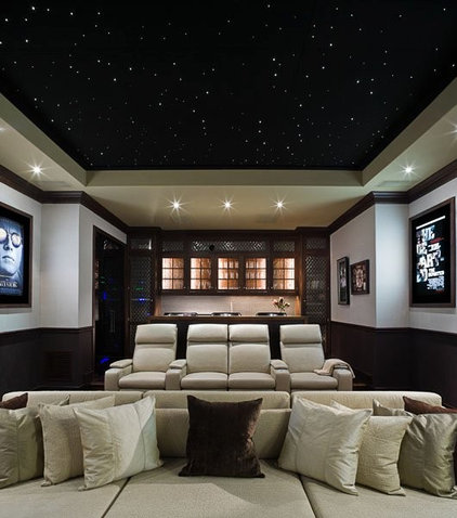 Contemporary Home Theater by MICHAEL MOLTHAN LUXURY HOMES