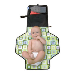 Skip Hop - Skip Hop Pronto! Changing Station - Black - 202001 - Shop for Baby Diaper Changing Pads from Hayneedle.com! A compact design with a lot of storage the Pronto Change Mat keeps diaper management simple. Unfold the mat to reveal an extra-wide space. At the head the pronto pillow holds baby's head in a comfortable position. A mesh diaper pocket and clear wipes case keeps all accessories close at hand. For even more capacity remove the pad to make an independent diaper carry-all. Sling around your wrist or hang from any stroller to free your hands.