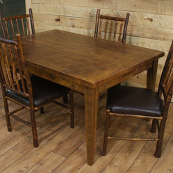 Reclaimed dining room table hickory chairs 60 x 42 x for Dining room table 42 x 60