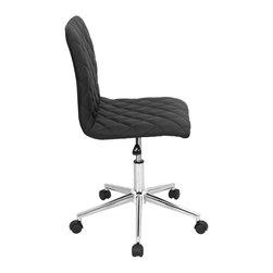 """Lumisource - Tesla Office Chair, Black - 19""""L x 17.5 W x 33"""" min. H / 38"""" max. H"""