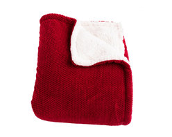 Woven Workz - Shelley Red Super Soft Melange Waffle Throw - Take this stylish throw to the bed, couch, porch - anywhere you want to kick back and relax. Its irresistable texture will add definition to any room. Super soft melange waffle throw on one side, with a faux shearling on the reverse. The perfect throw to cuddle up in.