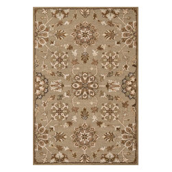 "Loloi Rugs - Loloi Rugs Ashford Collection - Khaki / Multi, 3'-6"" x 5'-6"" - A classic beauty re-imagined for today, hand-tufted Ashford harnesses the timeless elegance of historically rich floral rug patterns, but updates them with an incredibly calming palette. The loop and pile texture adds depth and visual interest to these rugs, which are handmade in India of 100% wool."