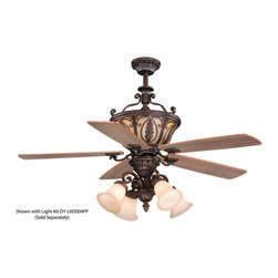 """Vaxcel - Dynasty 56"""" Ceiling Fan Forum Patina with Brushed Scavo Glass - Dynasty 56"""" Ceiling Fan Forum Patina with Brushed Scavo Glass, Traditional Style"""