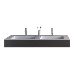 ADM - ADM White Solid Surface Stone Resin Wall Hung Sink, Matte - DW-112