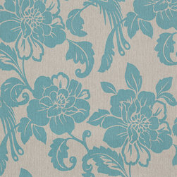 Romosa Wallcoverings - Gray / Turquoise Green Modern Floral Spring Garden Wallpaper - - This is a non woven wallpaper. Easy to hang.