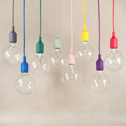 E27 Clear Glass Pendant Lighting - The light's unique design will change the way you think about illuminating a room.