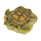 Gorgeous Sea Turtle Garden Statue Lawn Decor - This wonderfully lifelike cold cast resin sea turtle garden statue is the perfect addition to gardens, patios and lawns. The statue measures 3 1/2 inches tall, 12 inches long and 11 inches wide. The detail is incredible, from the hand painted eyes to the markings on her shell.
