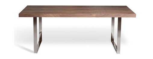 Inmod - Eco-Natura Roma Dining Table - With its minimalist silhouette and woodlike top, the EcoNatura Roma Dining Table creates a modern rustic look that brings warmth, chic style, and everyday function to your contemporary dining space.