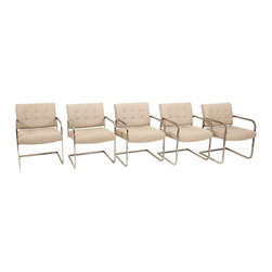 Unbranded - Consigned Mid Century Chrome Cantilevered Chairs - • Mid Century Modern