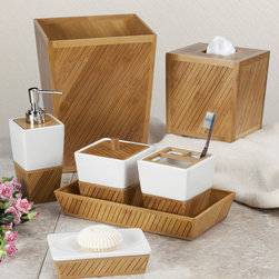 None - Spa Bamboo Bath Accessory Collection - Turn your bathroom into a serene spa with the luxurious Spa Bamboo bath accessory collection. With seven individual accessories to choose from, your bathroom is sure to have its own custom look.