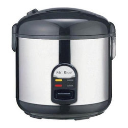 Sunpentown - Sunpentown SC-1812S 10 Cup Stainless Body Rice Cooker Multicolor - SC-1812S - Shop for Rice Cookers and Steamers from Hayneedle.com! Cook rice porridge soup stew and more with the Sunpentown SC-1812S 10 Cups Stainless Body Rice Cooker in your kitchen. This 10-cup rice cooker is compact and easy to use with its one-button operation.Features:Automatic keep-warm system for up to 12 hoursCool-touch exteriorConvenient carrying handleAir-tight lid locks in moisture and flavorCook and Keep Warm indicator lightsRemovable non-stick inner pot with Teflon coatingCondensation collection cupSafety lock buttonIncludes steam trayOperates on 700 watts of powerDimensions: 11.5L x 11.5W x 12H inchesAbout SunpentownSunpentown International designs and manufactures small home appliances for convenient kitchen use. Sunpentown is the largest single producer of induction cooktops in the world controlling over 70% of the domestic market. Aiming to stay at the forefront of induction technology Sunpentown is proud to introduce a new line of uniquely competitive built-in and Wok induction cooktops to appeal to the increasingly global market of the 21st century.