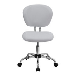 Flash Furniture - Flash Furniture Office Chairs Mesh Task Chairs X-GG-THW-F-6732-H - This value priced mesh task chair will accommodate your essential needs for your home or office space. This chair will add a contemporary look to your work space. Chair features a breathable mesh material with a comfortably padded seat. [H-2376-F-WHT-GG]