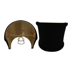 Home Concept - Half Shell Lamp Shade - Black Fabric 2x5x4 - Home Concept Signature Shades feature the finest premium shantung fabric.