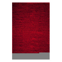 Momeni - Downtown Red Shag 2' x 3' Momeni Rug by RugLots - Downtown combines chic and casual living for a unique stylish look for every lifestyle. Hand-woven in India with a combination of wool and polyester shag, Downtown embraces the sexiness of city living at the same time embracing the comfort for your favorite room.