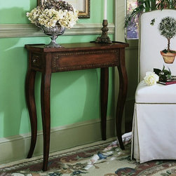 Hooker Furniture - Hooker Furniture Rectangular Accent Table 500-50-372 - Crafted from hardwood and alder solids with cherry veneers. This hand painted table features one drawer.
