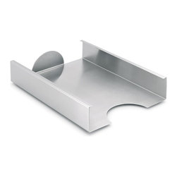 Blomus - Akto Stainless Steel Filing Tray - Stackable. Made of stainless steel. Designed by J. R. Schebendach. 1-Year manufacturer's defect warranty. 12.24 in. L x 8.69 in. W x 2.37 in. H