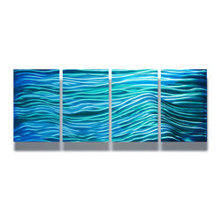 Miles Shay - Metal Wall Art Decor Abstract Contemporary Modern Sculpture- Tranquil - This Abstract Metal Wall Art & Sculpture captures the interplay of the highlights and shadows and creates a new three dimensional sense of movement as your view it from different angles.