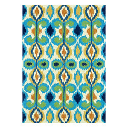 Loloi Rugs - Loloi Rugs Enzo Ivory-Blue Outdoor Hand Hooked Rug X-R0A7BBVI30-ZEOZNE - The Enzo Collection takes this high-fashion pattern outdoors. The allover Ikat designs enjoy a rich, bold, bright palette. The hand-hooked polypropylene and polyester rugs feature three dimensions of texture including hooks and cut pile for an overall look that exceeds expectations for an outdoor product.