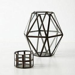 Anthropologie - Framework Votive - *Galvanized steel, glass