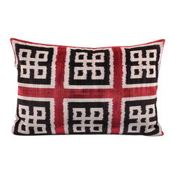 Handmade Velvet Ikat Pillow Cover - LP9 - Velvet Ikat pillow cover from the Bukhara region of Uzbekistan. This stylish pillow can accent your sofa, chair, or bedding in a wide variety of interior styles from modern to traditional.