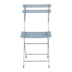 Eurostyle - Cannes Folding Chair (Set Of 4)-Blue/Alu - When you need to provide some extra seating in your space, just unfold this smart-looking chair and voilà! A little twist in the design of the seatback frame makes the chair all the more charming.