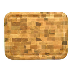 Catskill Craftsman - Reversible End Grain Block Cutting Board - Every kitchen needs an end grain block cutting board Cooking accessory features a juice groove on one side and is plain on the other side Add a new dimension to your dining experience using this reversible cutting board