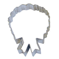 RM - Wreath 4 In.  B1136X - Wreath cookie cutter, made of sturdy tin, Size 4 in., Depth 7/8 in., Color silver